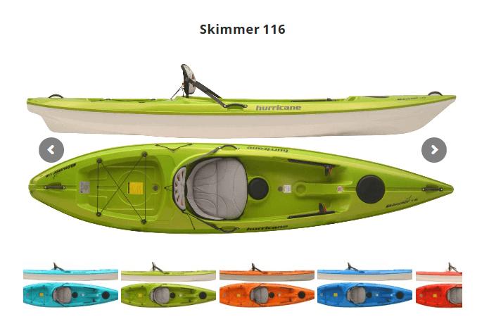 Hurricane Kayaks(ハリケーンカヤックス)スキマー116